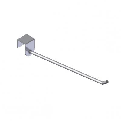 Beam-mounted display hook, straight